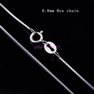 Genuine 925 Sterling Silver Curb Chain Necklace All Inch Stamped Italy Lady Gift