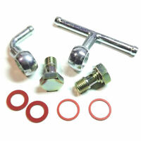 Weber 40/45 DCOE Fuel Inlet Bolt screw + Elbow + Tee banjo union set - silver