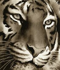 TIGER note cards by watercolor artist DJ Rogers
