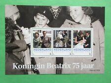 Persoonlijke vel 3012-D-9 Koningin Beatrix 75 jaar postfris
