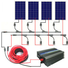 400W Solar System:4*100W Poly Solar Panel with 300W Inverter for 110V Home Power