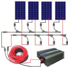 400W On Grid Solar System:4*100W 18V Poly Solar Panel W/ 300W Grid Tie Inverter