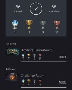 Bioshock Platinum Trophy Service PS4 100% LEGIT + DLC