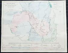 1854 Arrowsmith & Selwyn Rare Antique Goldfields Map Mt Alexander &. Victoria