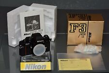 nikon f3 T, mint, original boxed, manual, papers, NOS, spare camera, collector