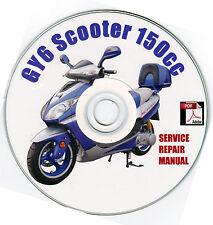 Scooter 150cc GY6 QMJ/QMB Service Repair Shop Manual on CD JM Star Hitong Kasea