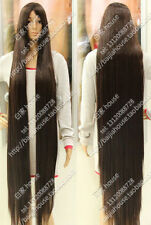 2016 new wig 150cm 60 inch Dark Brown Long straight hair Christmas costume wig