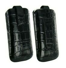 Cover Case Pouch Croco IPHONE 4 4S Black Black Shell