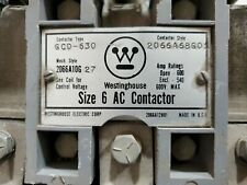 Westinghouse Size 6 AC Contactor / Starter 600A 600V Type GCD-630  2066A12H01