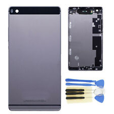 Gray Rear Panel Battery Door Back Cover Housing+Boutton For Huawei P8 GRA-L09