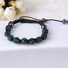 Bracelets Colorful Shamballa Adjustable Rhinestones Jewelry Red Blue Orange Gray