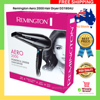 Remington Aero 2000 Poweful Hair Dryer Styling Blower D3190AU 3 Heat 2 Speed NEW