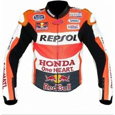 Men Honda Repsol One Heart Racing Motorbike Leather Jacket, Made to Order