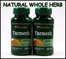 Puritans Pride TURMERIC 400mg ~ 200 Capsules ~ Antioxidant Curcuma Longa Tumeric