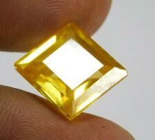 UNTREATED NATURAL 18.45 cts. YELLOW SAPPHIRE EMERALD CUT LOOSE GEMSTONE NR5809