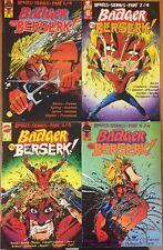 Badger Goes Berserk #1 2 3 4 (1989) First Comics Complete Series