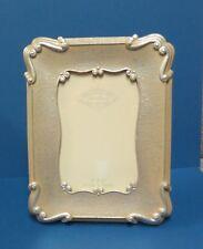 Elegant Silver Leaf 4 x 6 easel back frame with glass