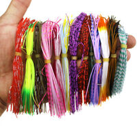 10pcs Octopus Fishing Lure Jig Skirt Chatterbait, spinnerbait,fishing lure skirt