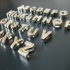 2 x New Diamante Bling Fashion Alphabet Letter Name Zinc Sign Floating Charms