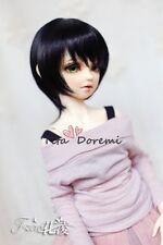 1 4 7-8 Dal BJD SD LUTS MSD Wig DOD DOC DD Dollfie Doll short wigs black