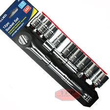 "12 Piece Standard SAE & Ratchet Socket Set 1/2"" Drive Ratchet Wrench Set Allied"