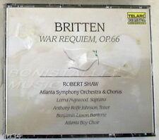 BENJAMIN BRITTEN - WAR REQUIEM OP. 66 - SHAW - 2 CD Sigillato