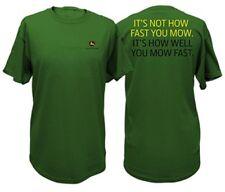 John Deere Mens Tee Green How Well You Mow Large