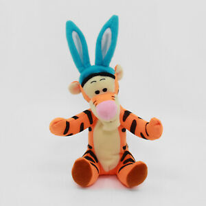 """TIGGER WITH EASTER BUNNY EARS 7"""" Plush - Disney Winnie the Pooh - 1998 Mattel"""