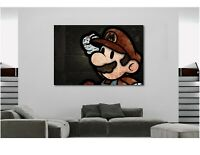 SUPER MARIO GAMES NINTENDO Canvas Wall Art Print