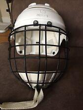 Mylec Street Hockey Helmet Junior Sz White Adjustable With Mask Chin Cup & Strom