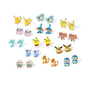 Pokemon Go Stud Earrings Pikachu Jigglypuff Eevie Dratini Charmander Gift UK