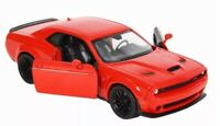 1:24 Scale Red Dodge Challenger 2018 Motormax Diecast Model Car