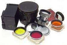 LEICA SUMMITAR 1:2 f=5cm M39 screw M mount rangefinder camera lens 2/50 filters