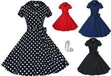 WHOLESALE BULK LOT 10 MIXED COLOUR SIZE 50'S Vintage Retro Swing Dress dr169