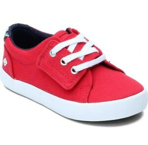 New Boy's Sperry Top-Sider Tuck JR Adorable Toddler  Shoes Size 7 M Red