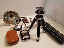 Assorted Vintage Camera Equipment & Accessories Lot incl. Cine, DeJur, Kodak