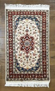 Real Hand knotted, Handmade Silk & Wool Style Woolen rugs / Carpet -Double Knot