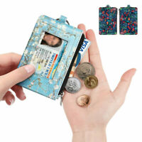 RFID Blocking Wallets Card Holder Coin Purse Credit ID Card Holder w/ Key RIng