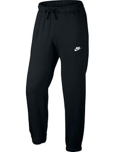 Nike Club Fleece Black Cuffed Joggers Bottoms for Men Sport Casual Gym Brand NEW