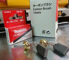 CB-303 10 sets Carbón Brush 194996-6 ORIGINAL MAKITA