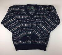 Vintage ~ Jantzen ~ Mens Retro V Neck Pullover Sweater / Sweat Shirt Size Large