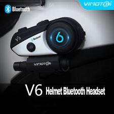 1x V6  BT Bluetooth Motorcycle Helmet Interphone Intercom Headset Riders