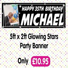 PERSONALISED PHOTO BIRTHDAY PARTY BANNERS ANY AGE, ANY NAME,ANY EVENT A006