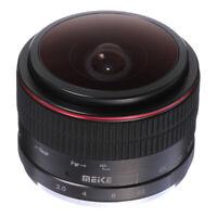 Meike 6.5mm F2.0 Fisheye MF Fixed Lens For CANON EOS EF-M  Mount  M1/M2 Camera