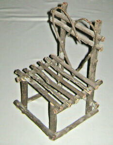 Vintage Appalachian Folk Art Wood Doll's Chair