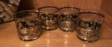 New listing Culver 22K Gold/Green On the Rocks ~ Lowball Barware Set of 4