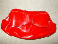 L K Bennett Red Bow Patent Leather Clutch Bag NWOT