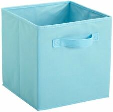 NEW Organizer Cube Bin Blue Fabric Basket Storage Store Box Room Bedroom handle