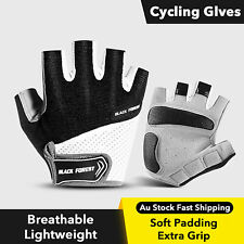 Cycling Gloves Bicycle Bike Blue Half Finger Men Sport Outdoor Gym Road Padded