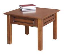 Table basse carrée de salon, table d'appoint, table de café en bois